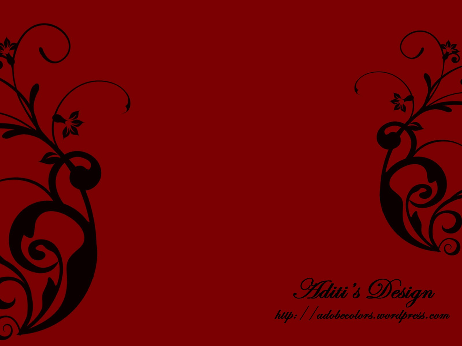Red designs wallpaper